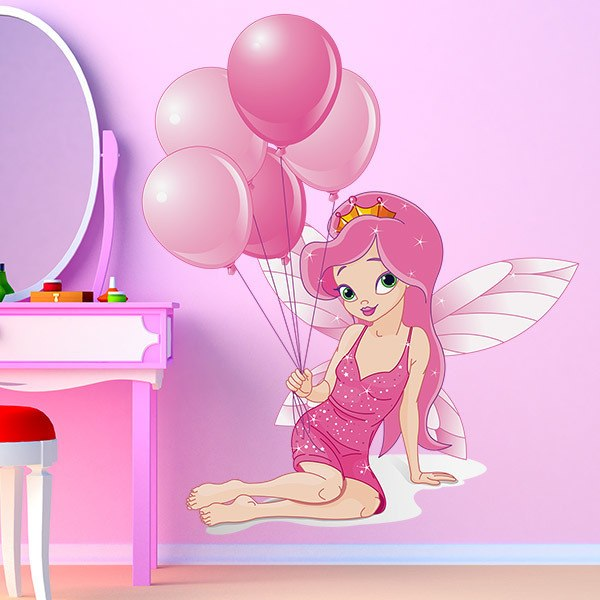 Stickers for Kids: Fairy with balloons