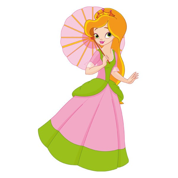 Stickers for Kids: Princess with sunshade