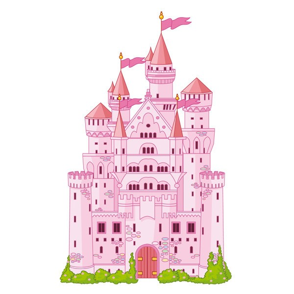 Stickers for Kids: The big pink castle