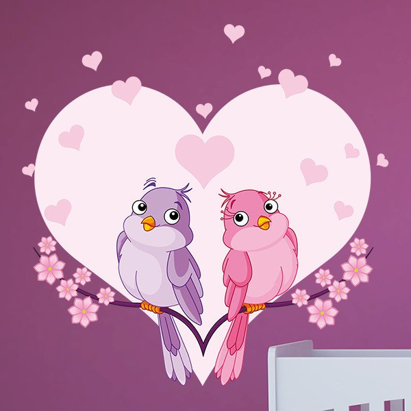 Stickers for Kids: Lovebirds 1