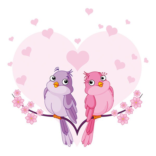 Stickers for Kids: Lovebirds