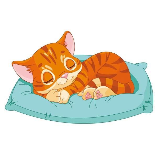 Stickers for Kids: Kitten Sleeping