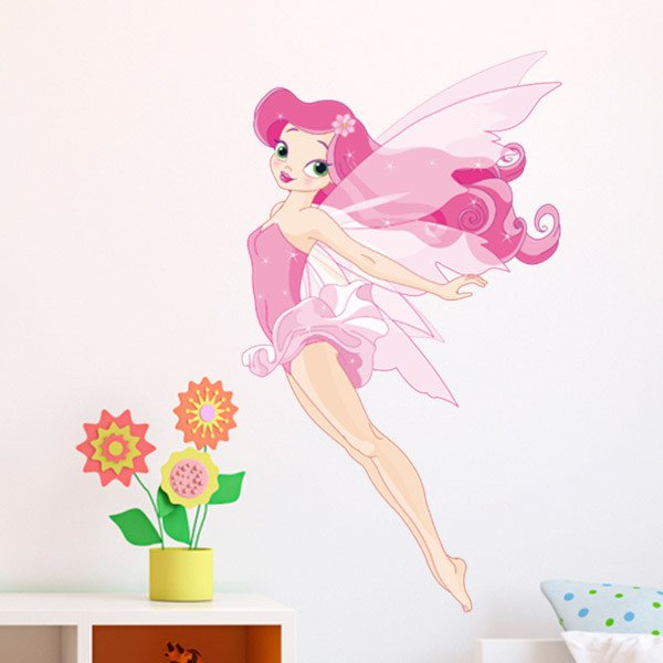 Stickers for Kids: Pink fairy flying 1