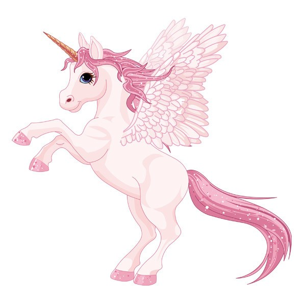 Stickers for Kids: Unicorn with pink wings