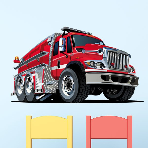 Stickers for Kids: Fire truck 2