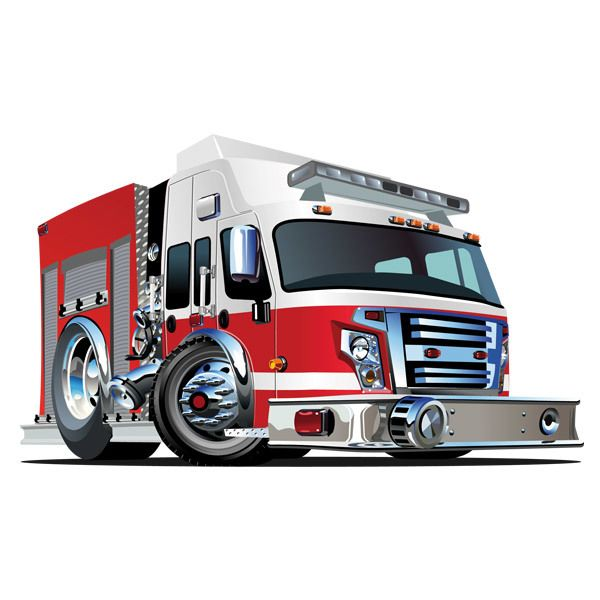 Stickers for Kids: Fire truck 4