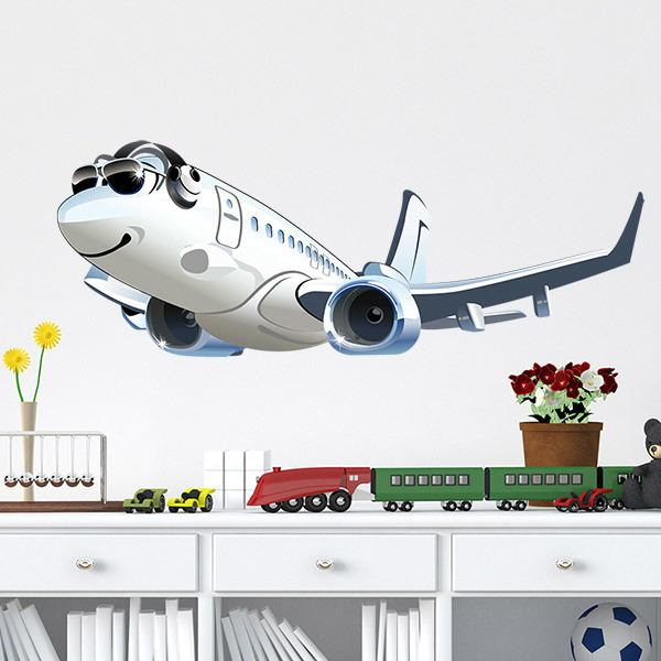 Stickers for Kids: Commercial plane 2