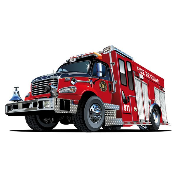 Stickers for Kids: Fire truck