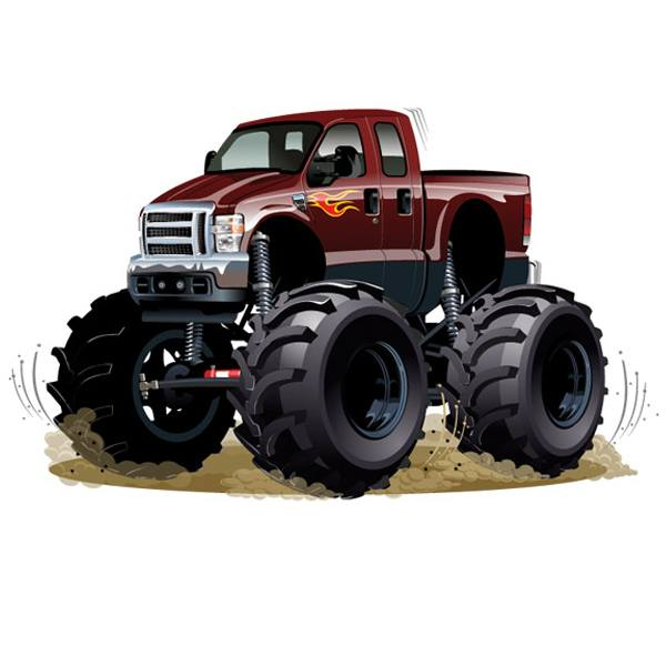 Stickers for Kids: Monster Truck