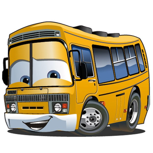 Stickers for Kids: Bus school