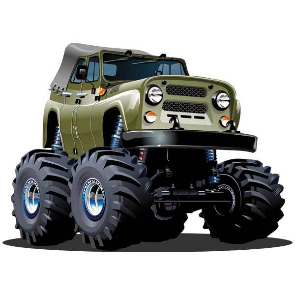Stickers for Kids: Monster Truck 10