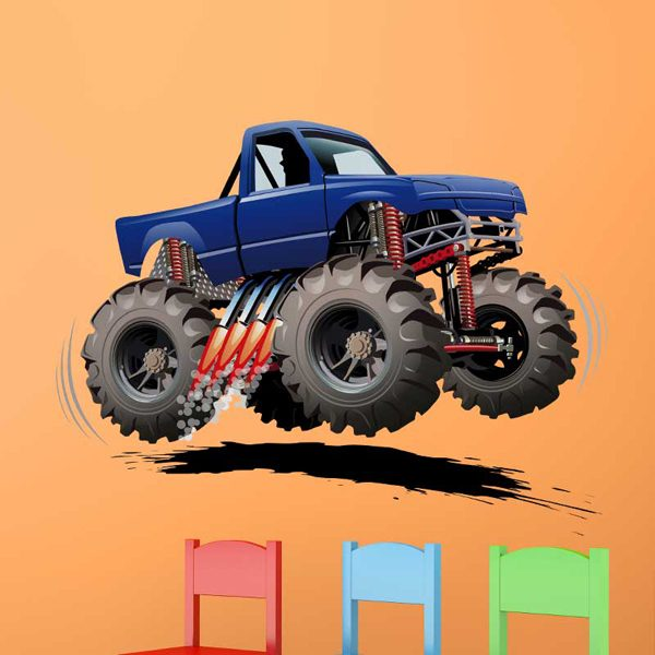 Stickers for Kids: Monster Truck 8 1