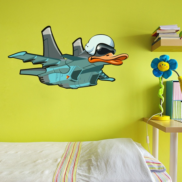 Stickers for Kids: Plane headed duck