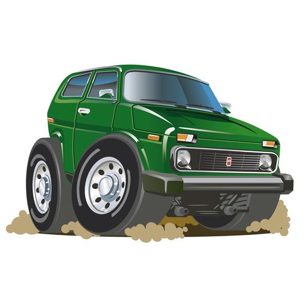 Stickers for Kids: Green alltrack