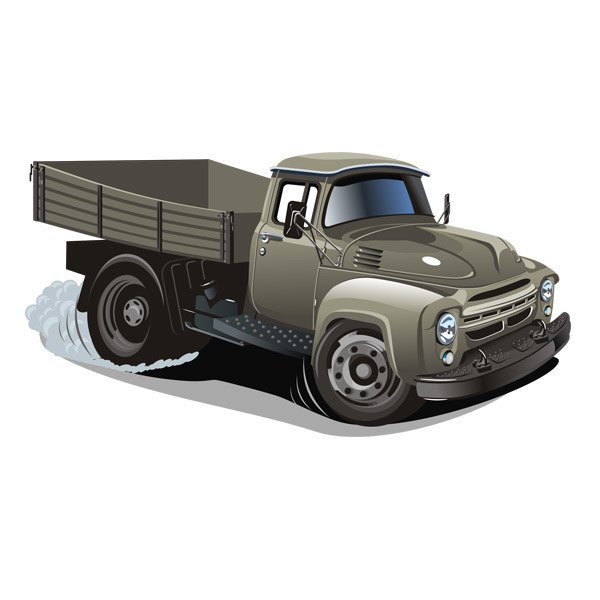 Stickers for Kids: Old truck transport