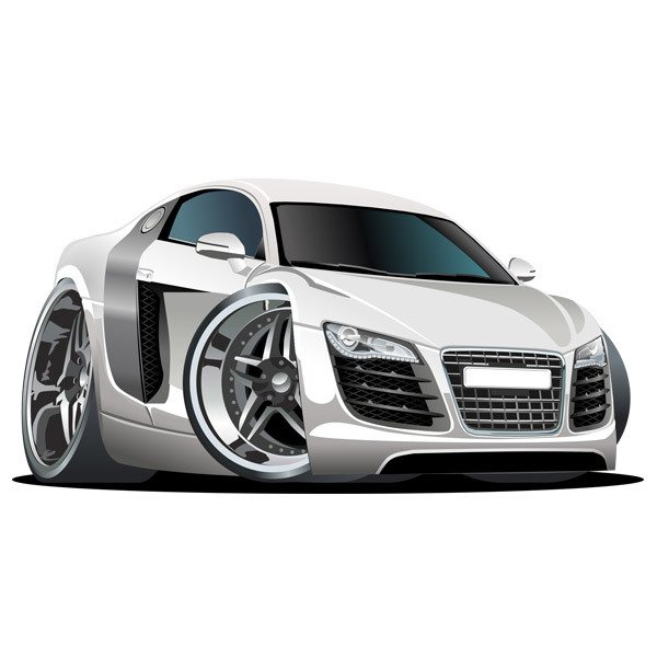 Stickers for Kids: White sports car