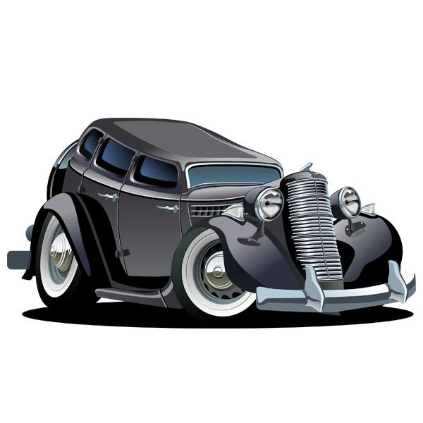 Stickers for Kids: Classic car 8