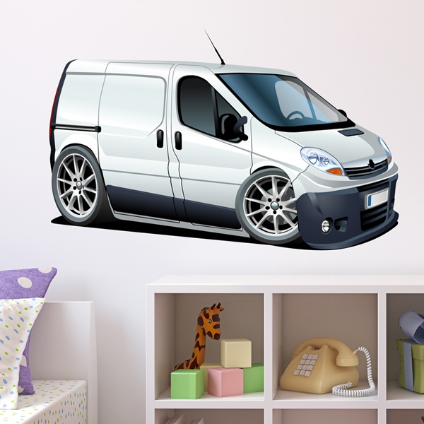 Stickers for Kids: White van