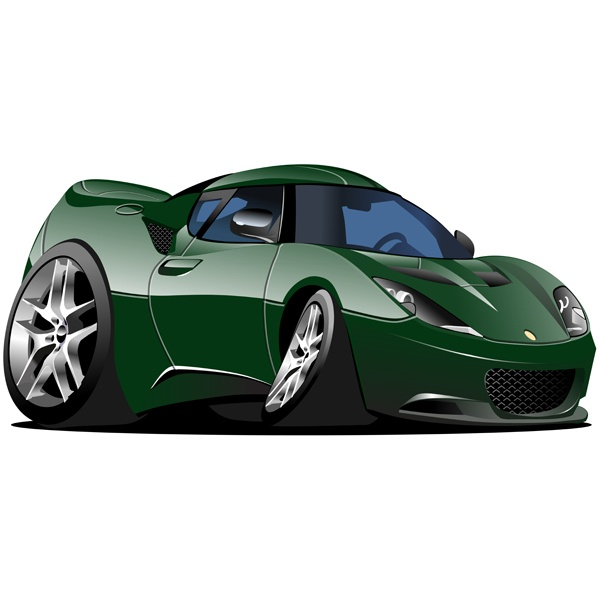 Stickers for Kids: Green sports car