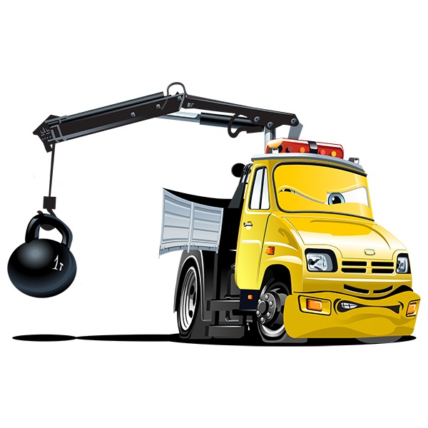 Stickers for Kids:  Truck Crane Ball 1