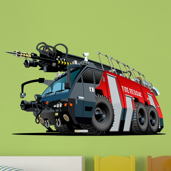 Stickers for Kids: Fire truck 6