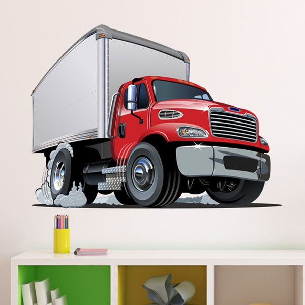Stickers for Kids: Transport truck