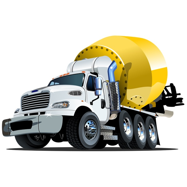 Stickers for Kids: Concrete tank truck