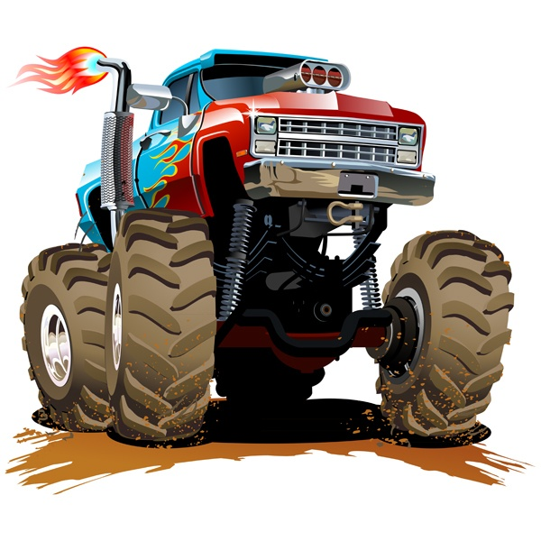 Stickers for Kids: Monster Truck 28