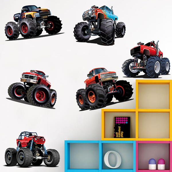 Stickers for Kids: Monster Truck Kit