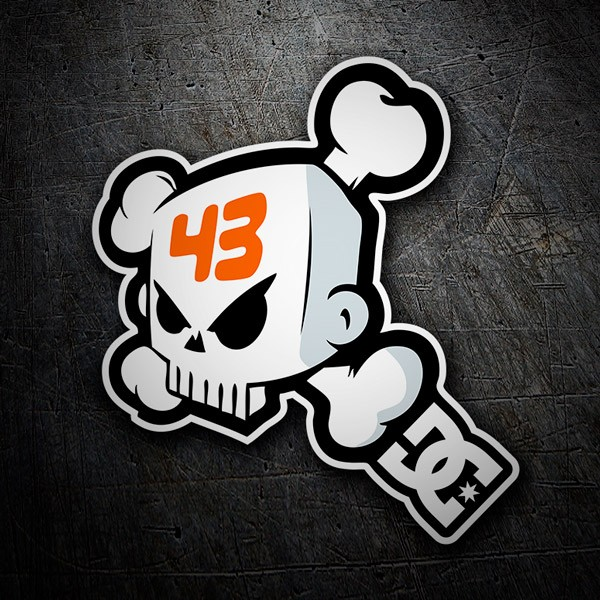 Car and Motorbike Stickers: Ken Block 43 DC Shoes Skull 1