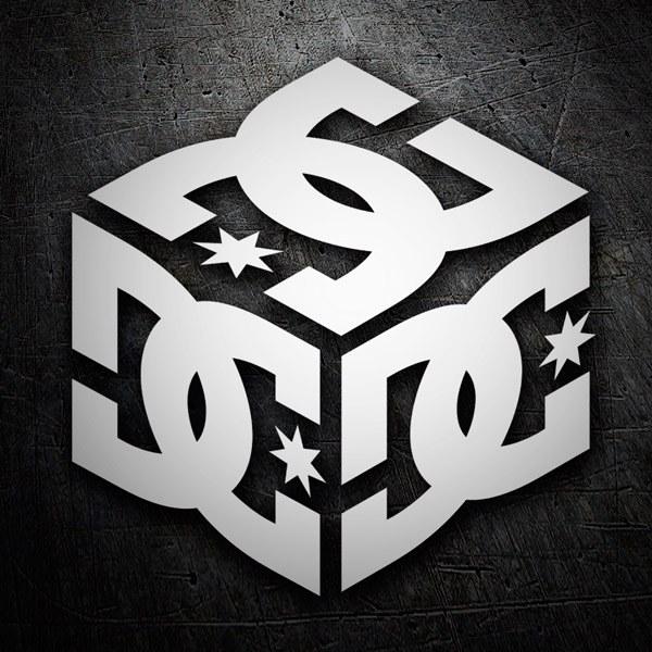 Car and Motorbike Stickers: DC Shoes Cube