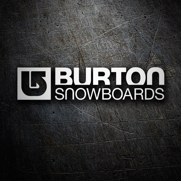 Car and Motorbike Stickers: Burton Snowboards