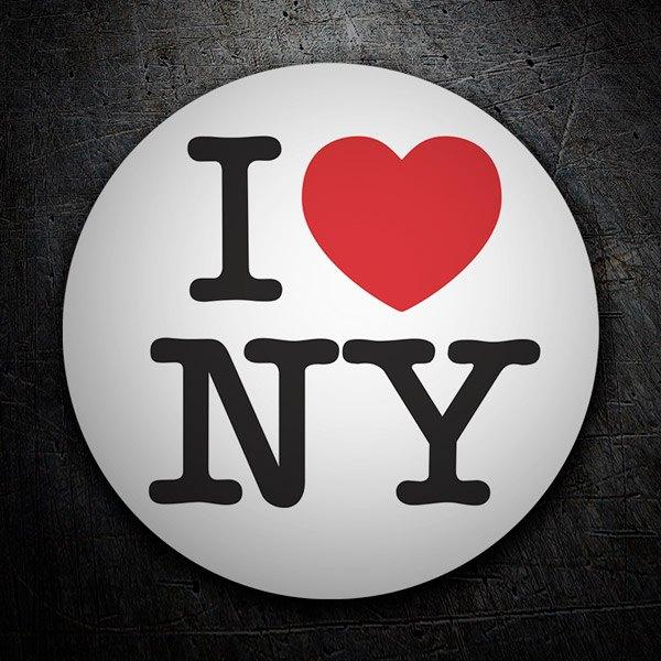 Car and Motorbike Stickers: I love NY (New York)