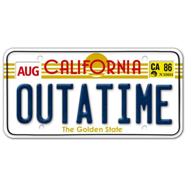 sticker license plate back to the future. Black Bedroom Furniture Sets. Home Design Ideas