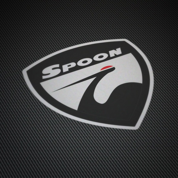 Car and Motorbike Stickers: Spoon Badge