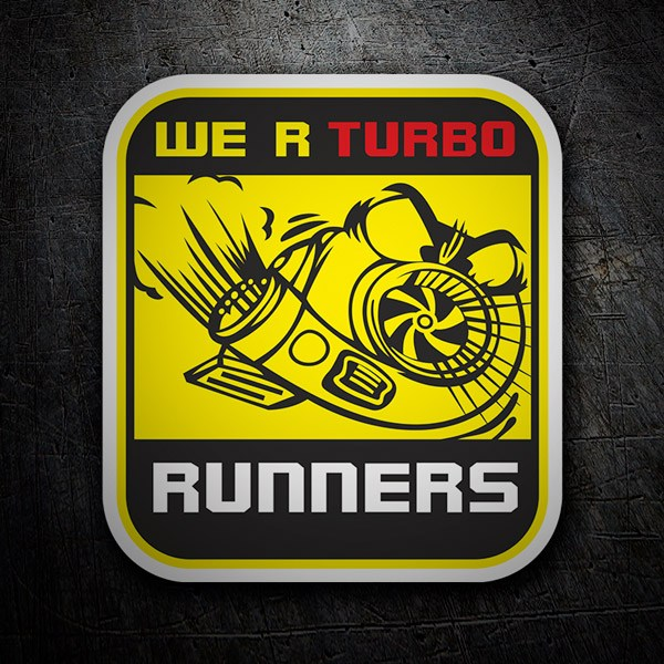 Car and Motorbike Stickers: We are Turbo Runners