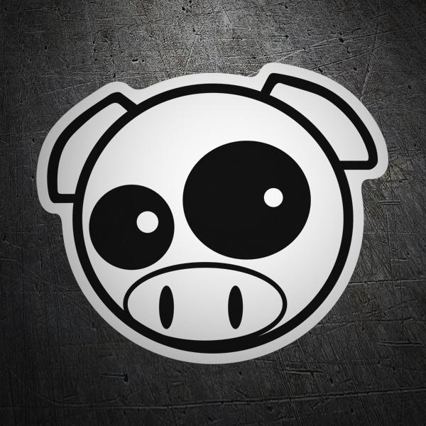 Car and Motorbike Stickers: Subaru Pig Manga Mascot
