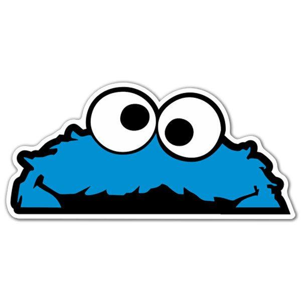 Sticker Surf Skate Cookie Monster Muraldecal Com