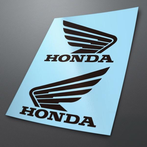 Car and Motorbike Stickers: Kit tank Honda Wings