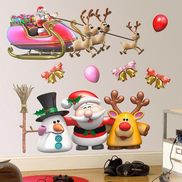 Wall Stickers: Santa Claus Christmas Kit
