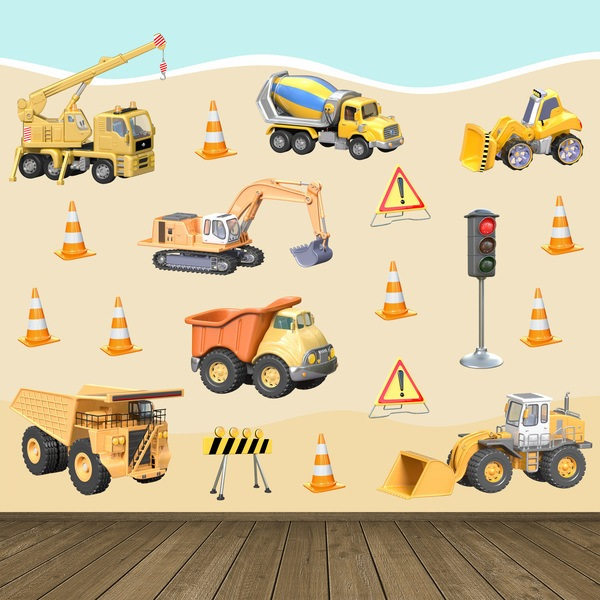 Stickers for Kids: Trucks Construction Kit