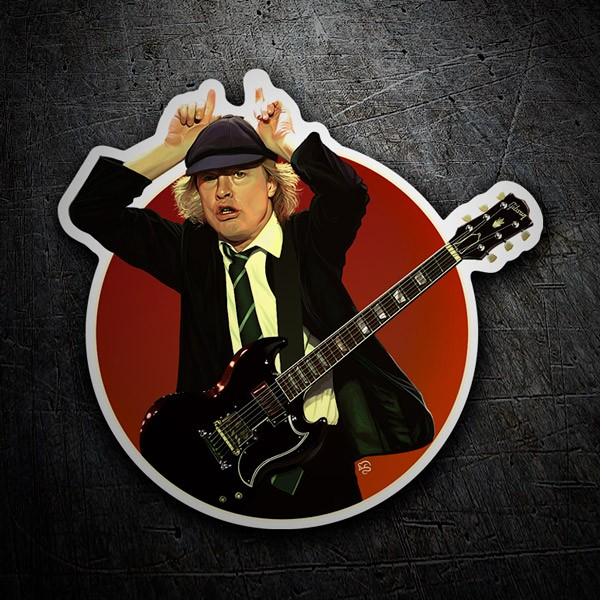 Car and Motorbike Stickers: Angus Young