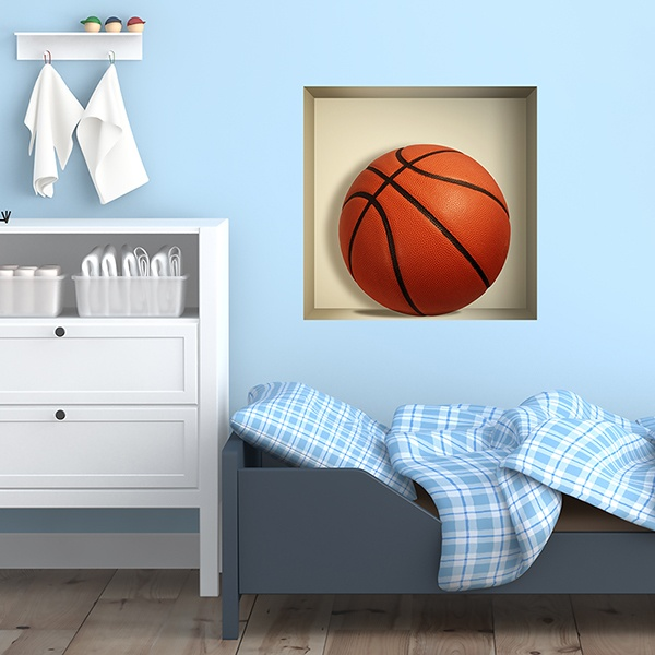 Wall Stickers: Basketball ball niche