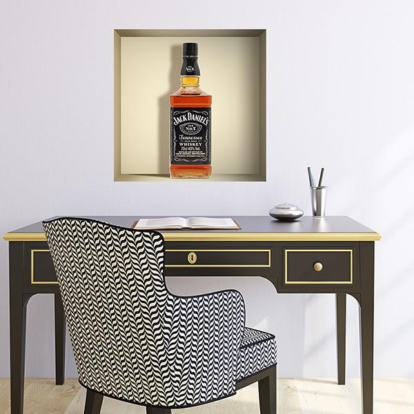 Wall Stickers: Bottle of Jack Daniels niche