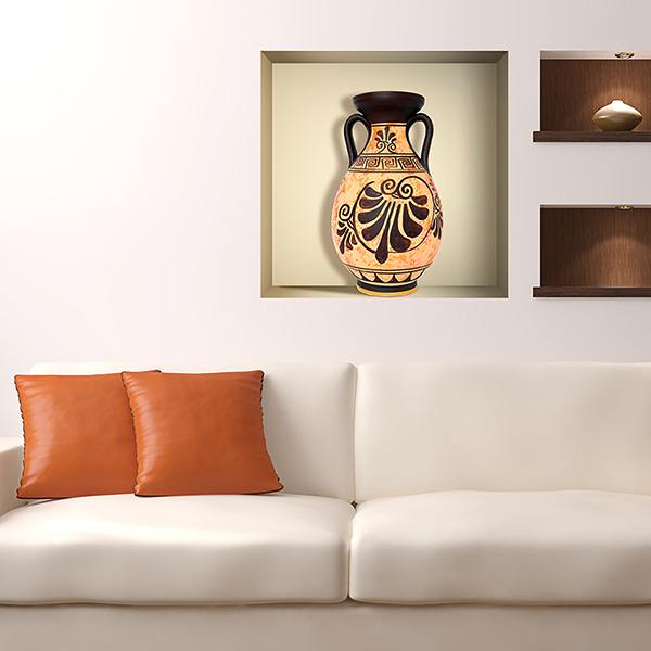 Wall Stickers: Greek Vase niche