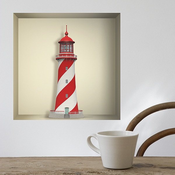 Wall Stickers: Maritime lighthouse