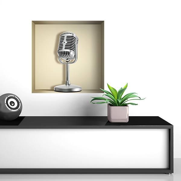 Wall Stickers: Retro Microphone niche