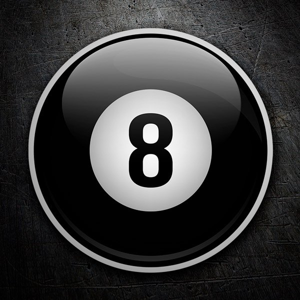Car and Motorbike Stickers: 8 ball