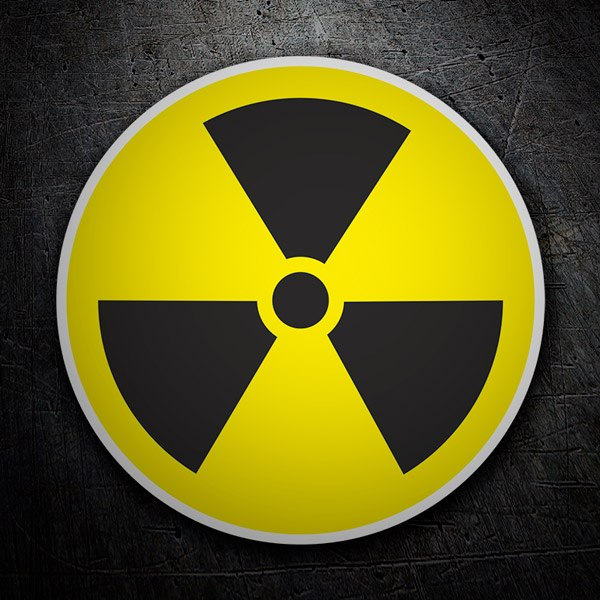 Car and Motorbike Stickers: Radioactive