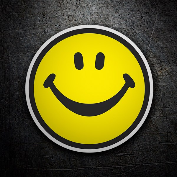 Car and Motorbike Stickers: Smiley face